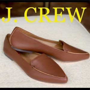 J. CREW leather loafer flats.